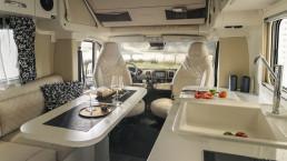 Oasi 540 - interior de diseño de lujo de rv compacto - camper