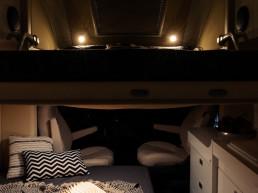 Oasi 540 - night time compact rv motorhome premiumness - camper