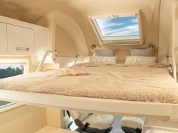 Drop-down bed - camper