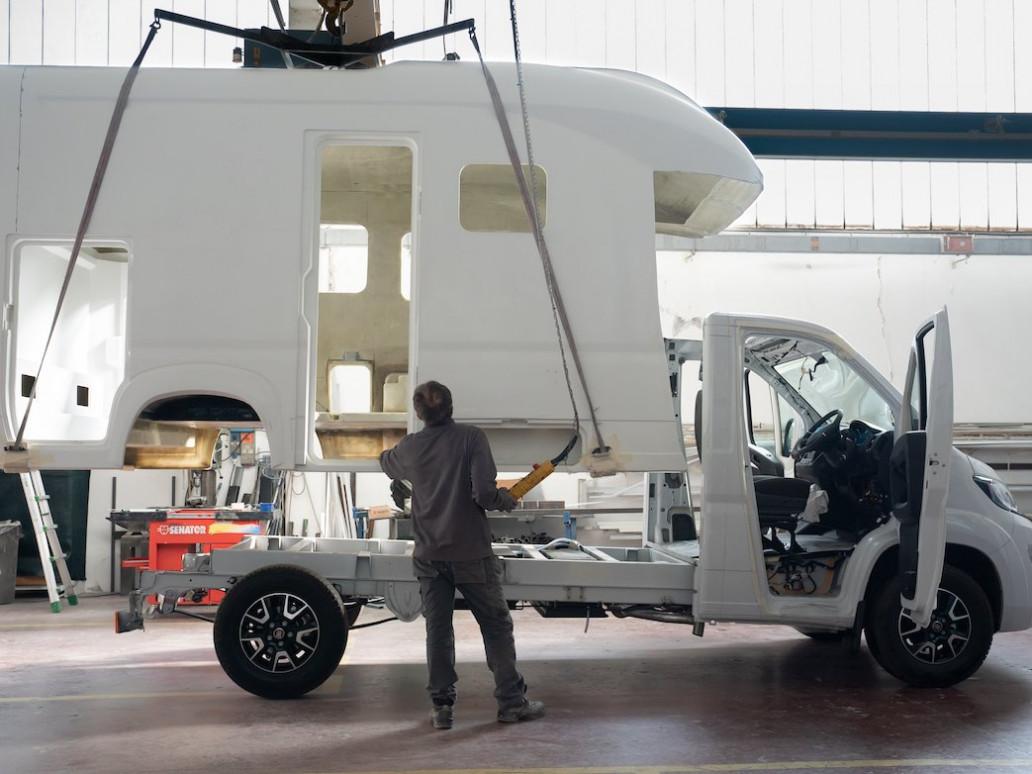 fiberglass monocoque motorhome production - camper